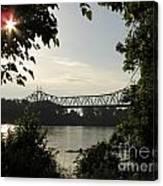 Missouri River Sunrise  Canvas Print