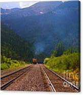Misty Mountain Train Canvas Print