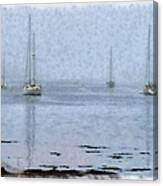 Misty Sails Upon The Water Canvas Print