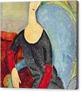 Mme Hebuterne In A Blue Chair Canvas Print