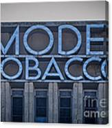 Model Tobacco Building Canvas Print