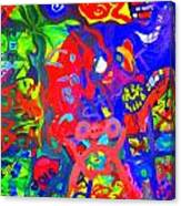 Modern Abstract Painting Original Canvas Art Young Life By Zee Clark Canvas Print