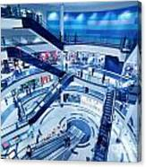 Modern Shopping Mall Interior Canvas Print