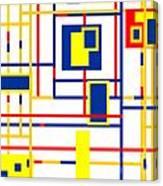 Mondrian Color Teraphy Canvas Print