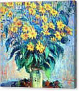 Monet's Jerusalem  Artichoke Flowers Canvas Print