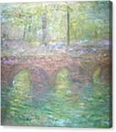 Monet's Waterloo Bridge In London At Dusk Canvas Print
