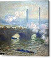 Monet's Waterloo Bridge On A Gray Day Canvas Print