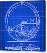 Monocycle Patent 1894 - Blue Canvas Print