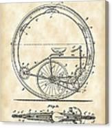 Monocycle Patent 1894 - Vintage Canvas Print