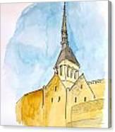 Mont Saint Micheal Canvas Print