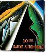 Monte Carlo Rallye Automobile Canvas Print