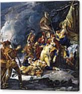 Montgomerys Death, 1775 Canvas Print
