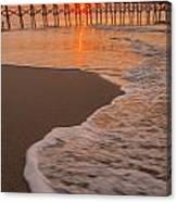 morning at  Myrtle Beach South Carolina Canvas Print