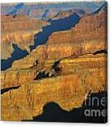 Morning Color And Shadow Play In Grand Canyon National Park Canvas Print