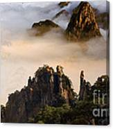 Morning Fog China Mountains  Canvas Print
