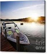 Morning Sun On The Lake Canvas Print
