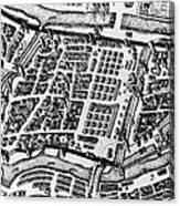Moscow: Kitai-gorod Map Canvas Print