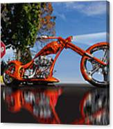 Motorcycle Reflections Canvas Print