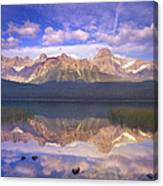 Mount Chephren And Waterfowl Lake Canvas Print