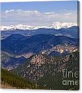 Mount Evans And Continental Divide Canvas Print