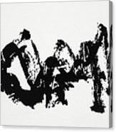 Mountain Avant-garde Calligraphy Canvas Print