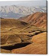 Mountain Scenary Near Zanjan In Iran Canvas Print