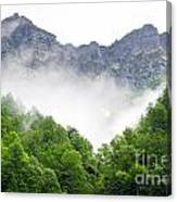 Mountain With Clouds Canvas Print