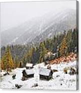 Mountain With Snow Canvas Print