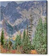 Mountains And Trees Canvas Print