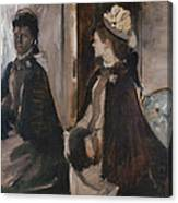 Mrs Jeantaud In The Mirror Canvas Print