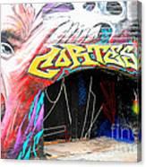 Mural With Teeth Canvas Print