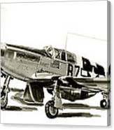 Mustang P-51 Canvas Print