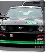 Mustang Race Car Canvas Print