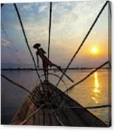 Myanmar, Inle Lake Canvas Print
