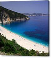 Myrtos Beach Canvas Print