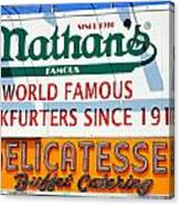 Nathan's Sign Canvas Print
