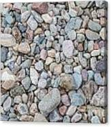 Natural Rock Pebble Backgorund Canvas Print