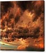 Nebraska Thunderset Canvas Print