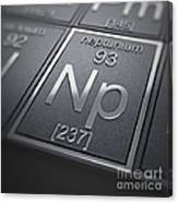 Neptunium Chemical Element Canvas Print
