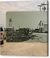 Net Mending At Sakonnet Point In Little Compton Rhode Island Canvas Print