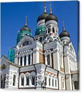 Nevsky Cathedral - Tallin Estonia Canvas Print