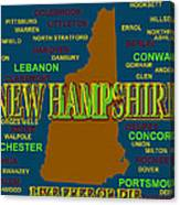 New Hampshire State Pride Map Silhouette  Canvas Print