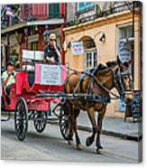 New Orleans - Carriage Ride Canvas Print