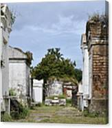 New Orleans Lafayette Cemetery Canvas Print