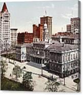 New York City Hall 1900 Canvas Print