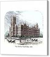 New York City Normal College - 1870 Canvas Print