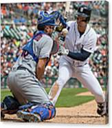 New York Mets V Detroit Tigers 1 Canvas Print
