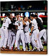 New York Mets V Miami Marlins Canvas Print