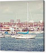 Newport Beach Panorama Canvas Print