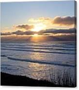 Newport Oregon Sunset Canvas Print